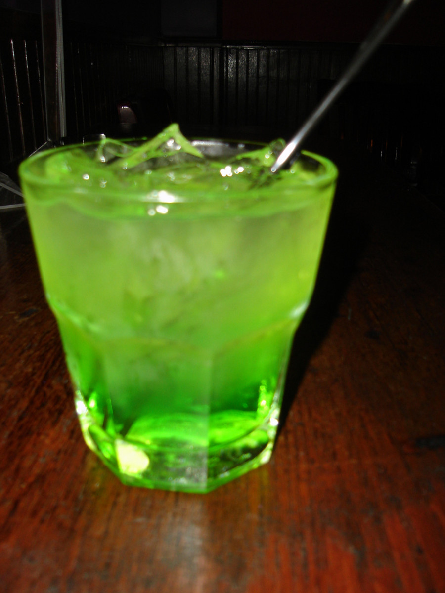 Midori Sours are simple, fun, and VERY green.