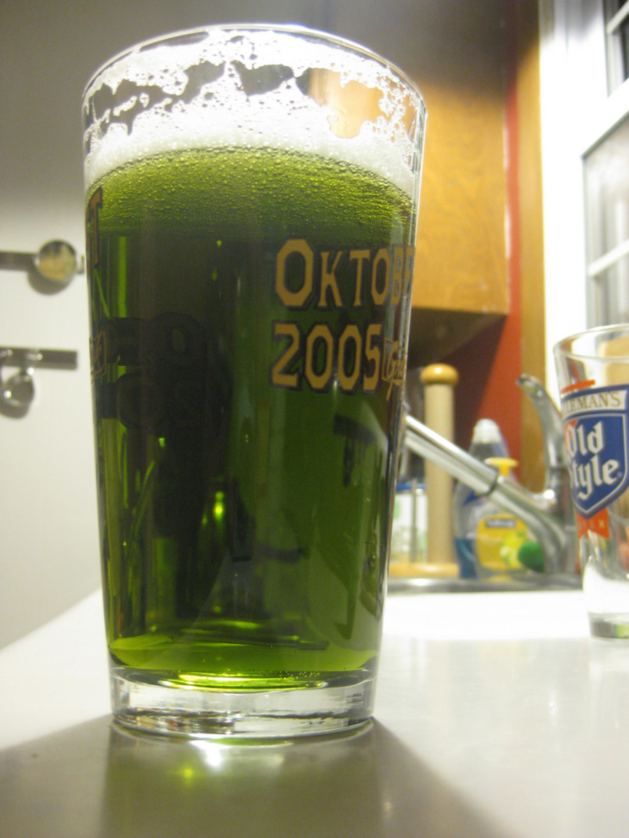Green beer is one of the most popular drinks on St. Patty's Day