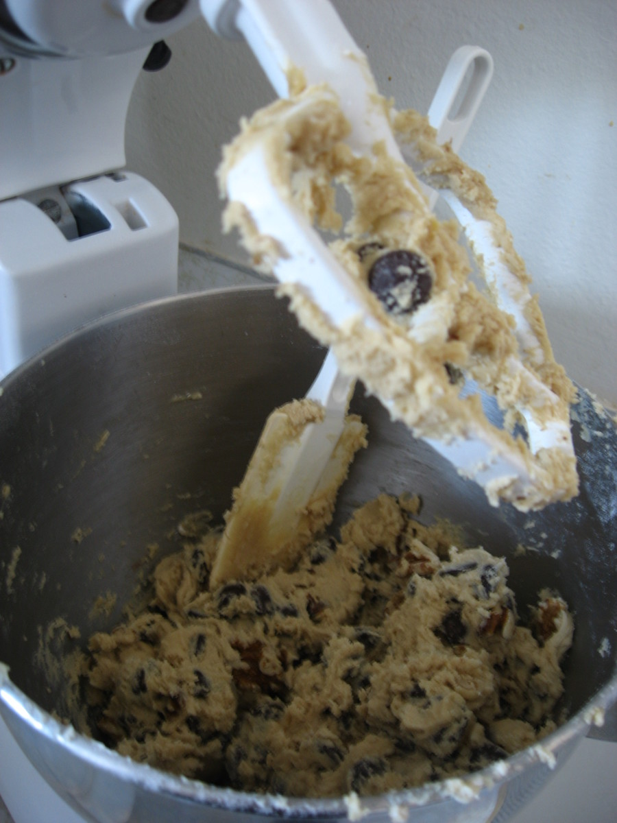 A cookie dough ready for baking.