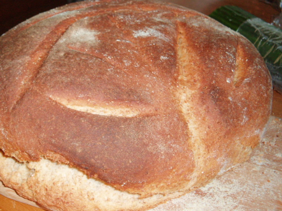 Rustic, tasty bread.