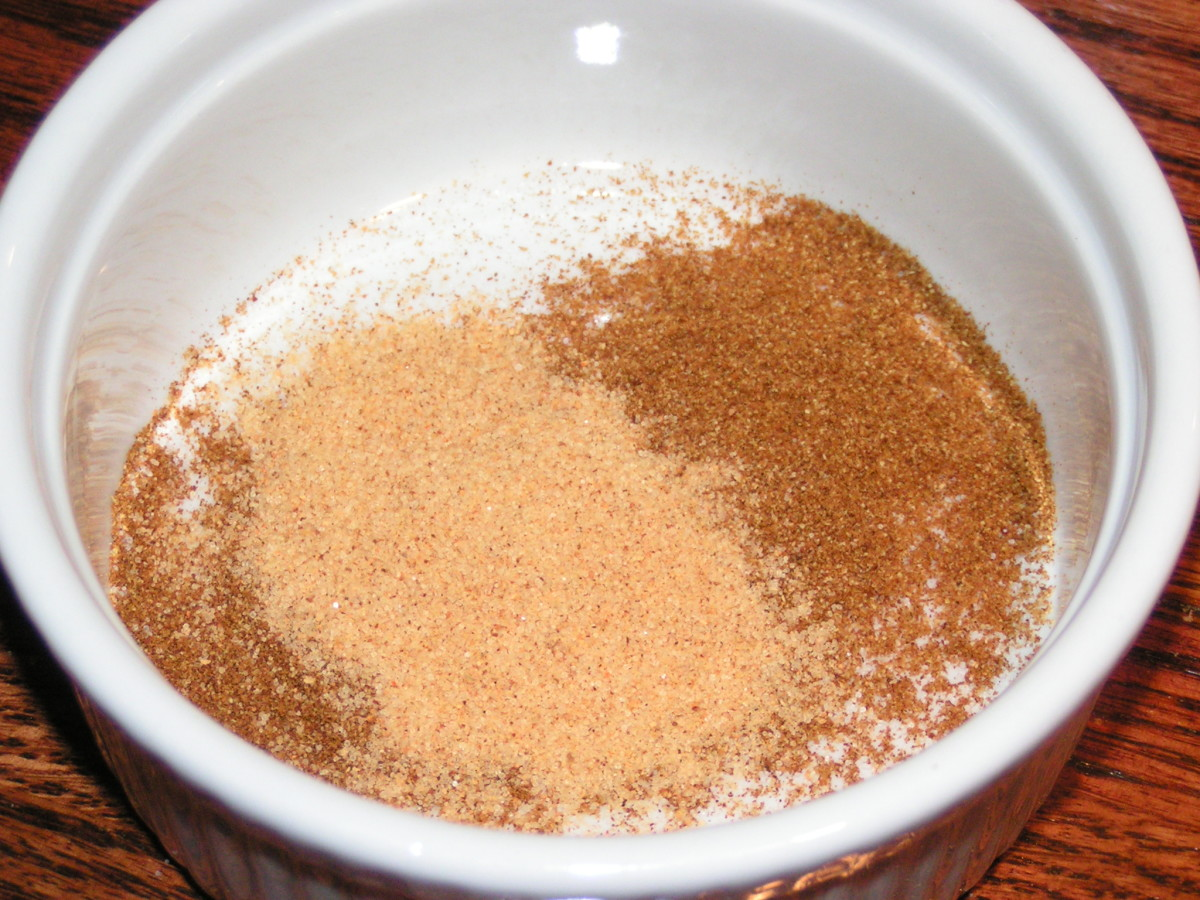 Measure out salt, season salt, and paprika.