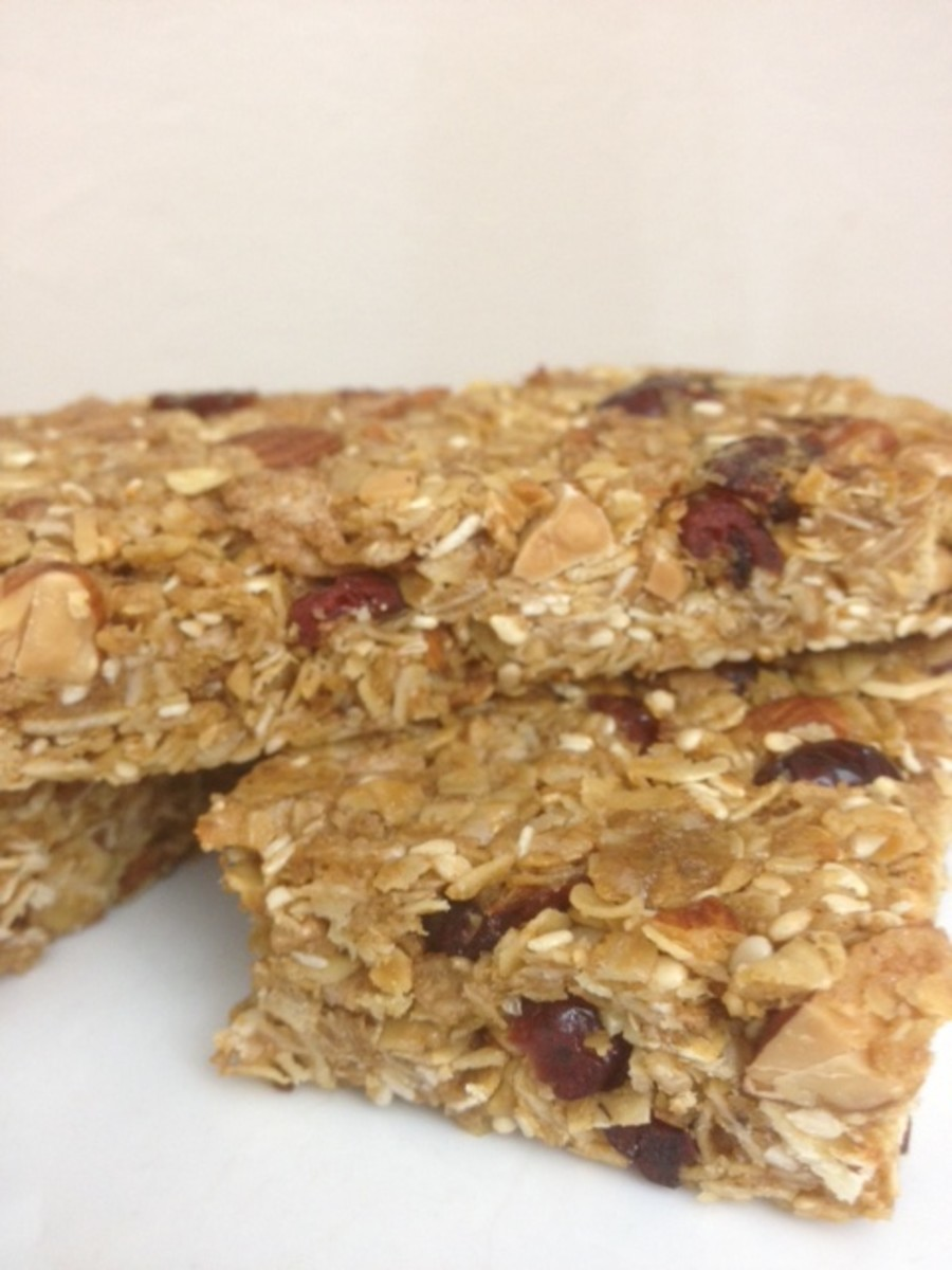 Healthy granola energy bars.