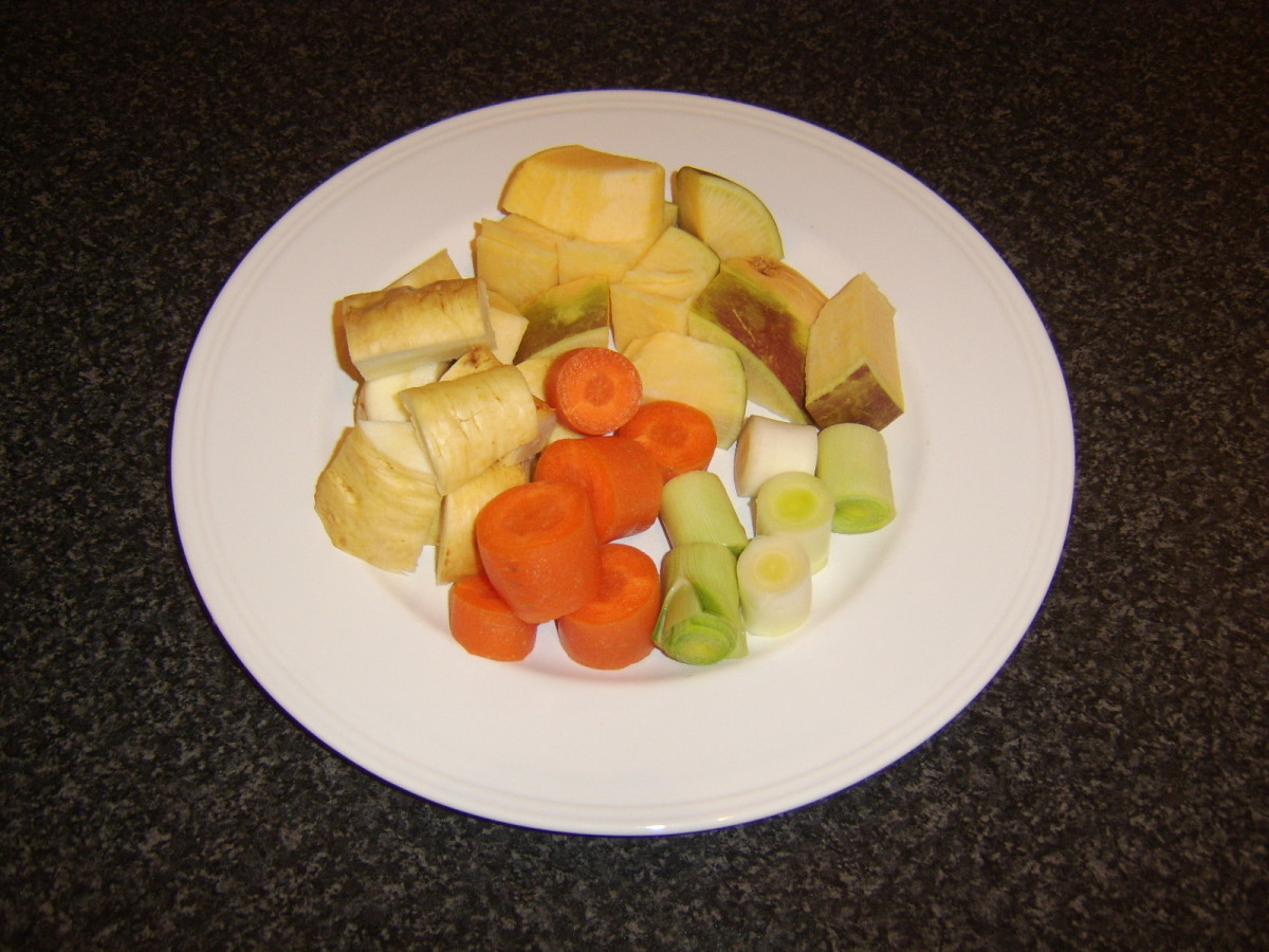 Vegetables prepared for making soup