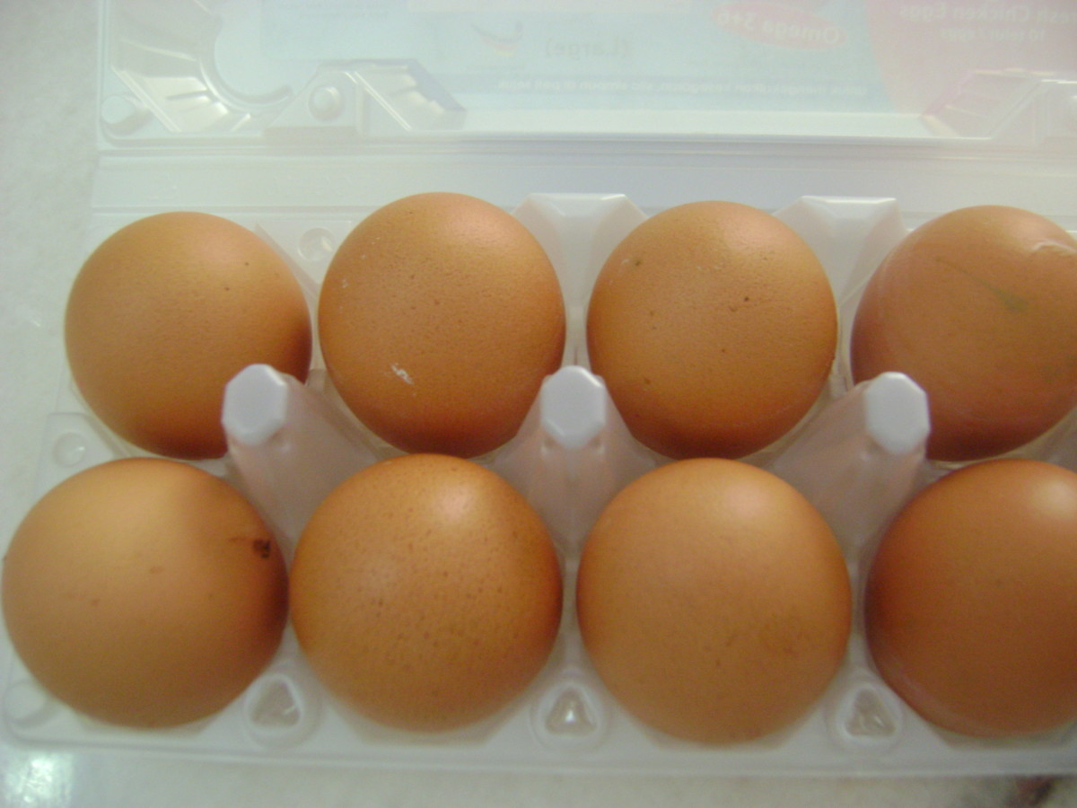 Eggs might be boiled, poached, fried, or scrambled.