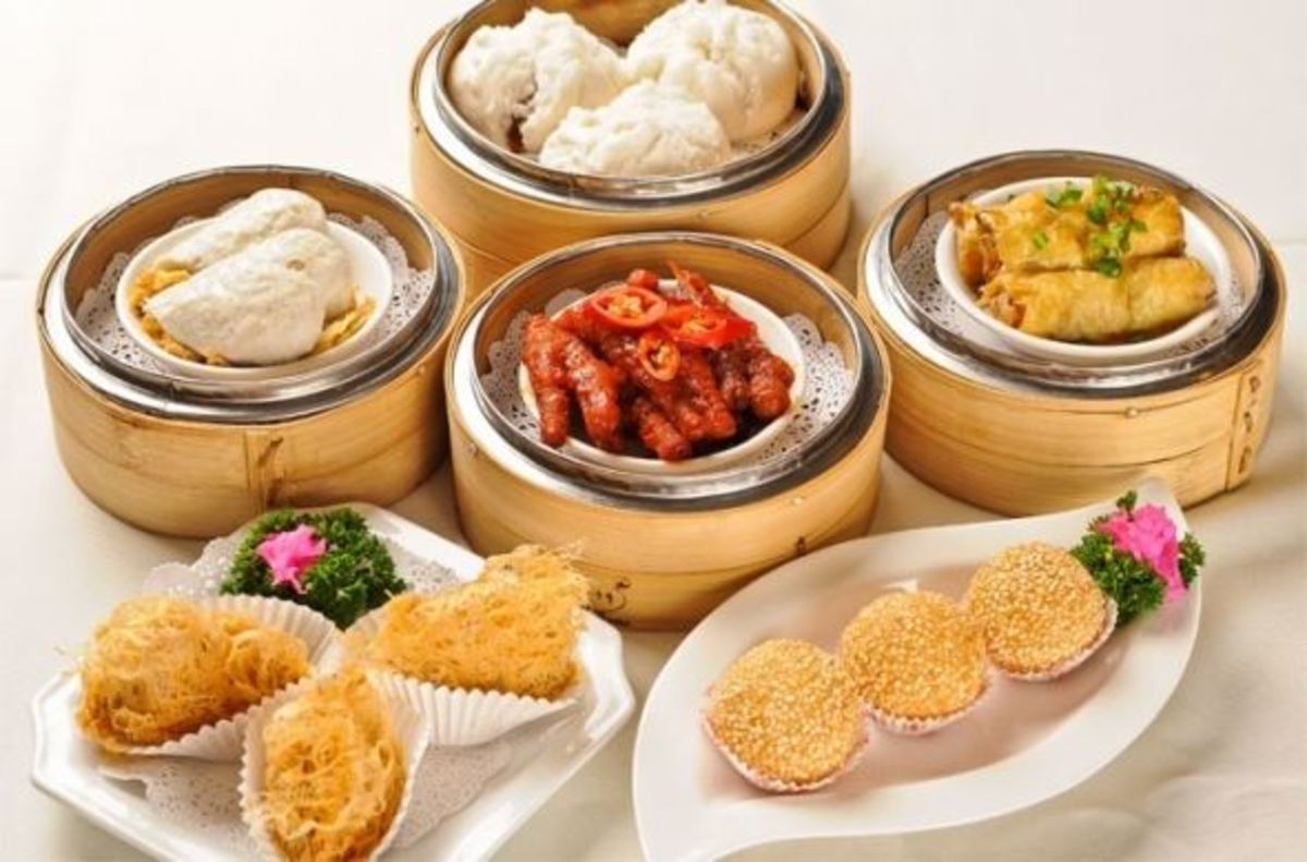 Dim sum from Tang Palace Chinese Restaurant, Dynasty Hotel, Kuala Lumpur.