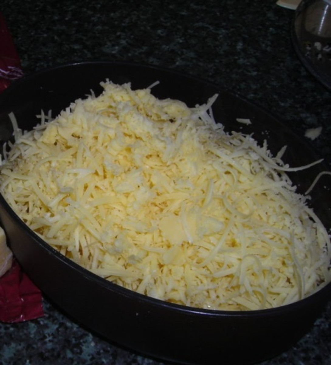 Grated Cheese in a Cheese Grater Box