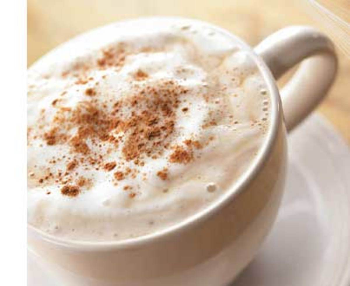 The Chai Tea Latte used to be topped with cinnamon powder, but Starbucks took this out of the standard recipe. It's a great addition.