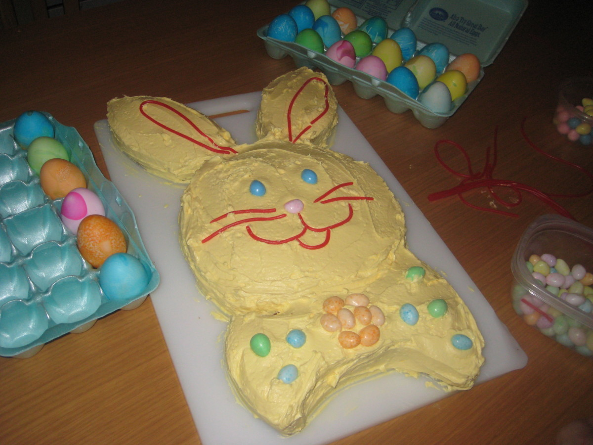 Our Easter 2010 Bunny Cake.