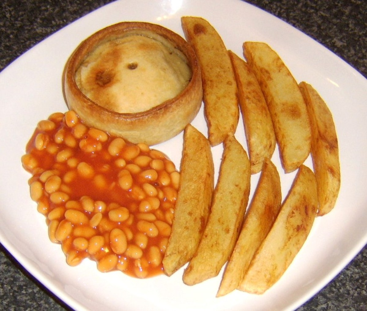 Pie, Chips and Beans: A Big Scottish Favourite