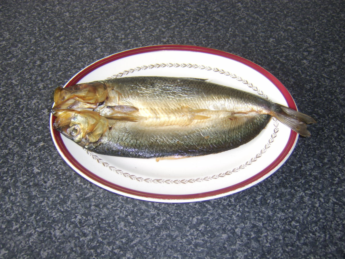 A kipper is simply a brined and smoked herring