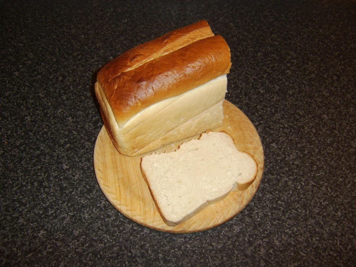 Thick slice of bread for bruschetta