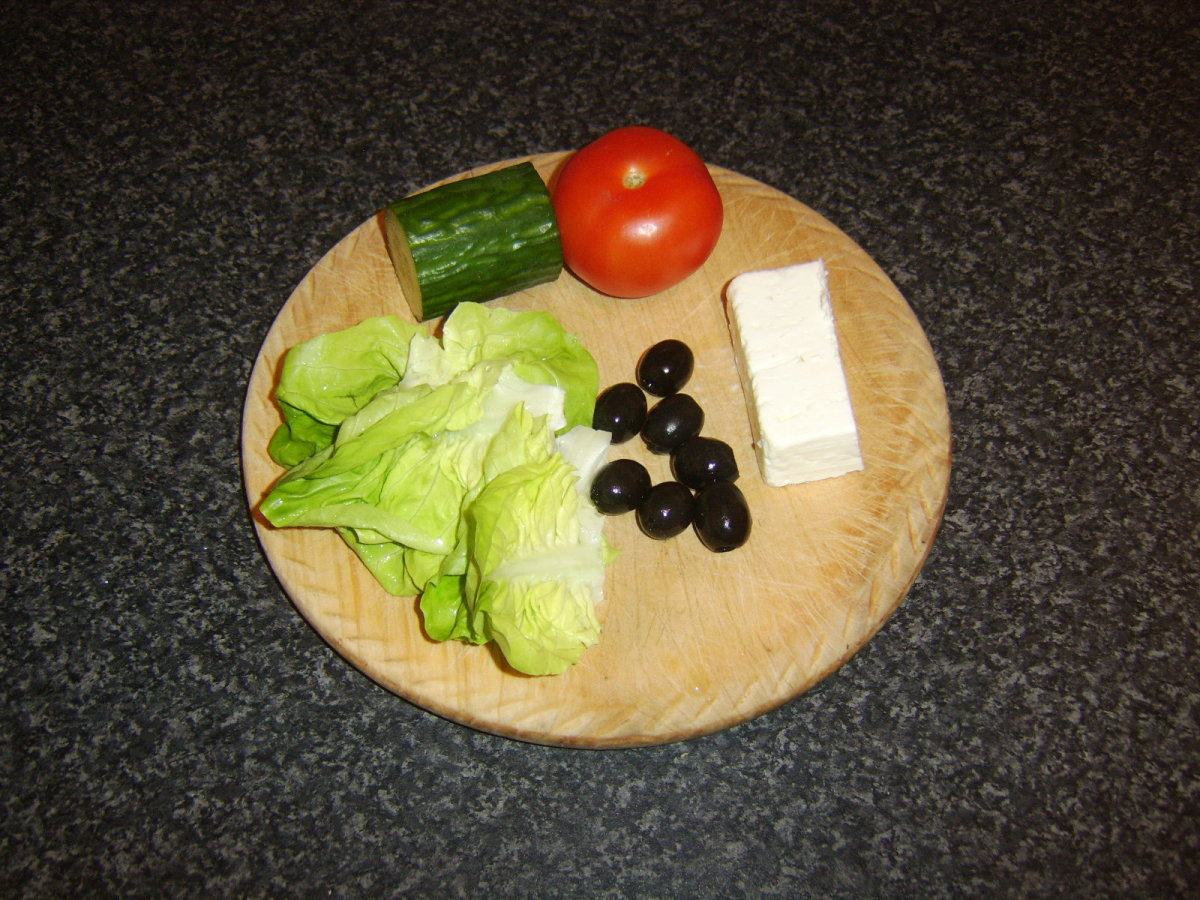 Mediterranean salad ingredients