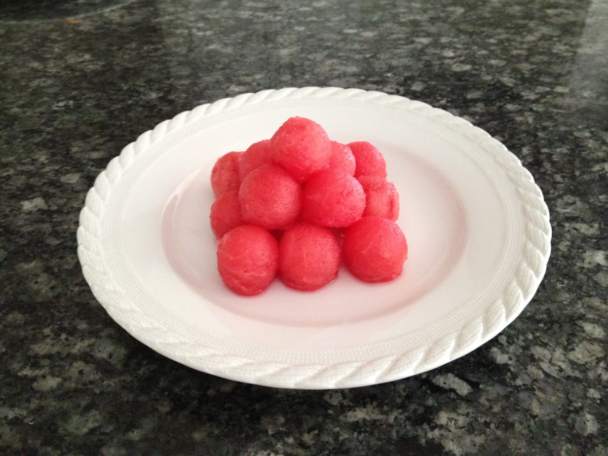 Watermelon cannonballs