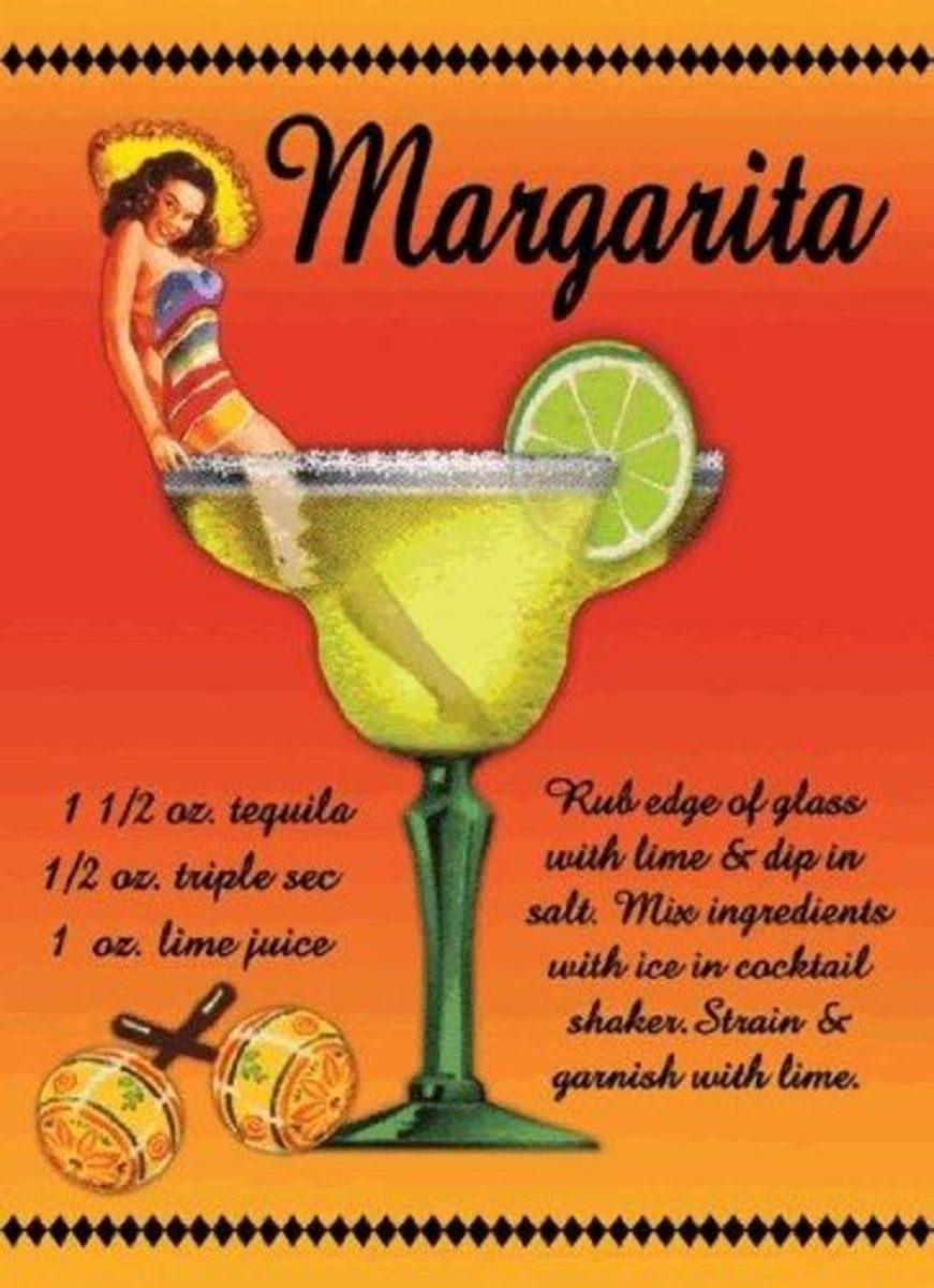 Margarita Recipe Sign