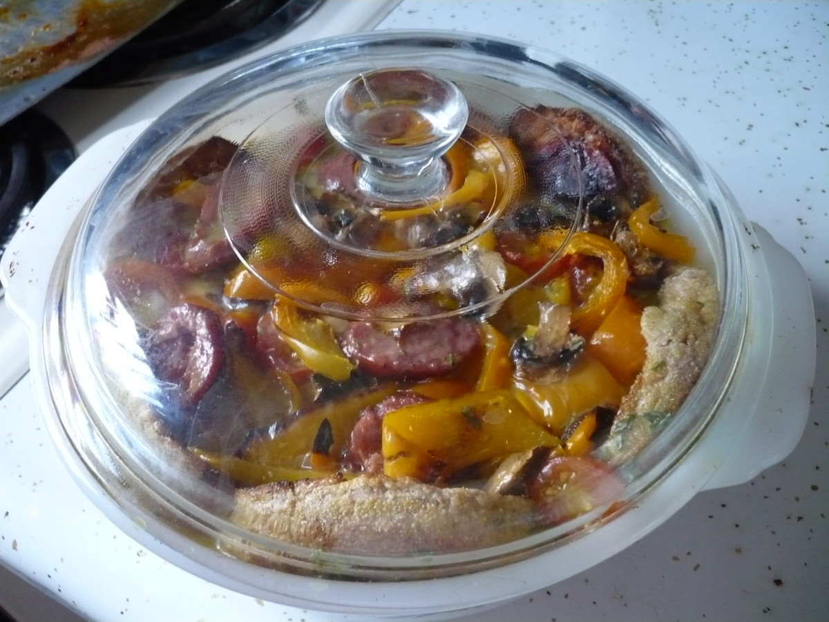 Put the glass lid on top and refrigerate overnite.