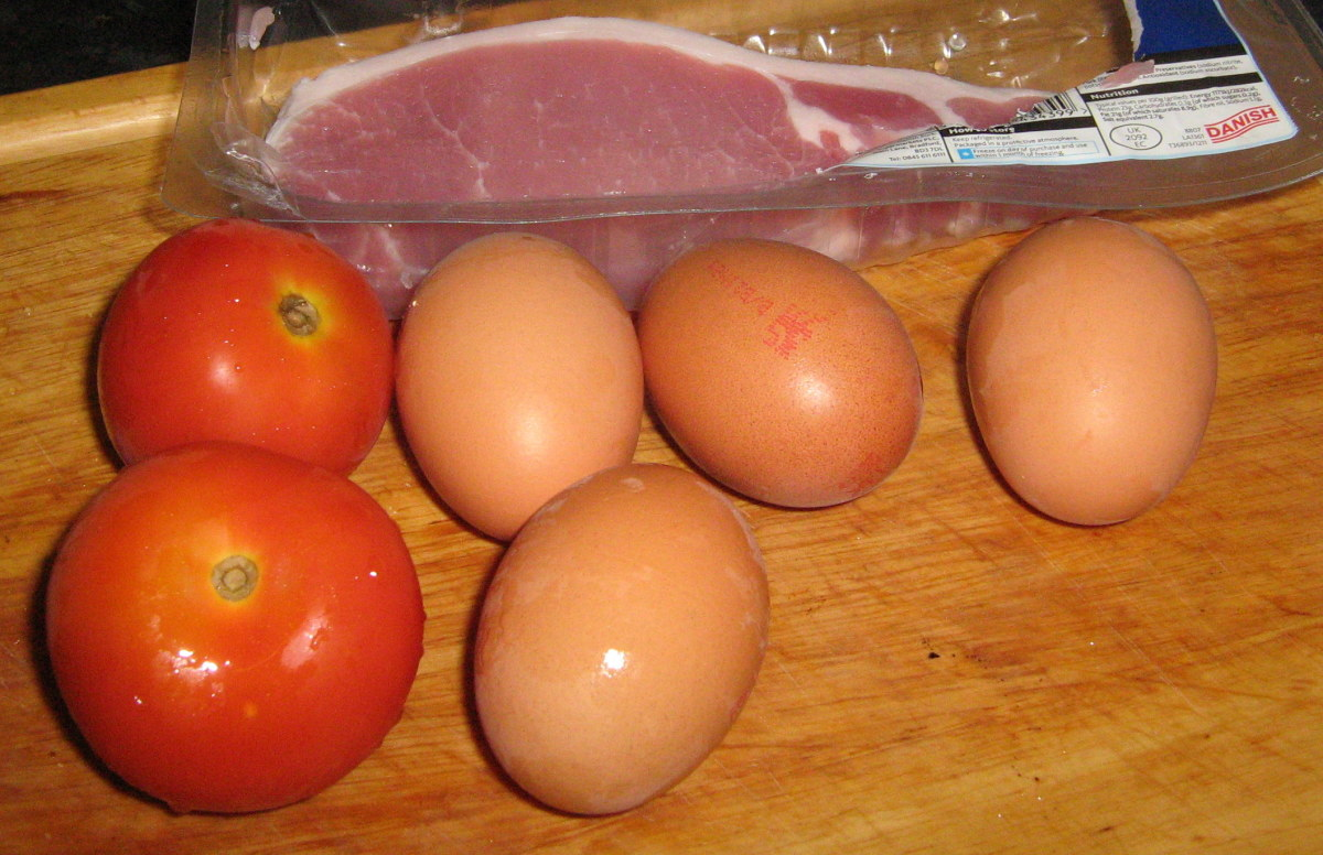 Ingredients for an Irish fry-up