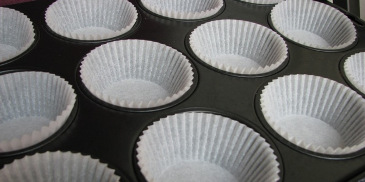 Muffin tin prepared!