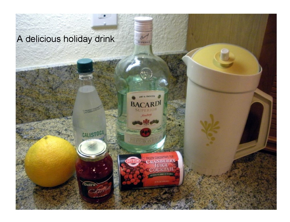 Rum Drink With Cranberry Juice |  Delicous and Festive