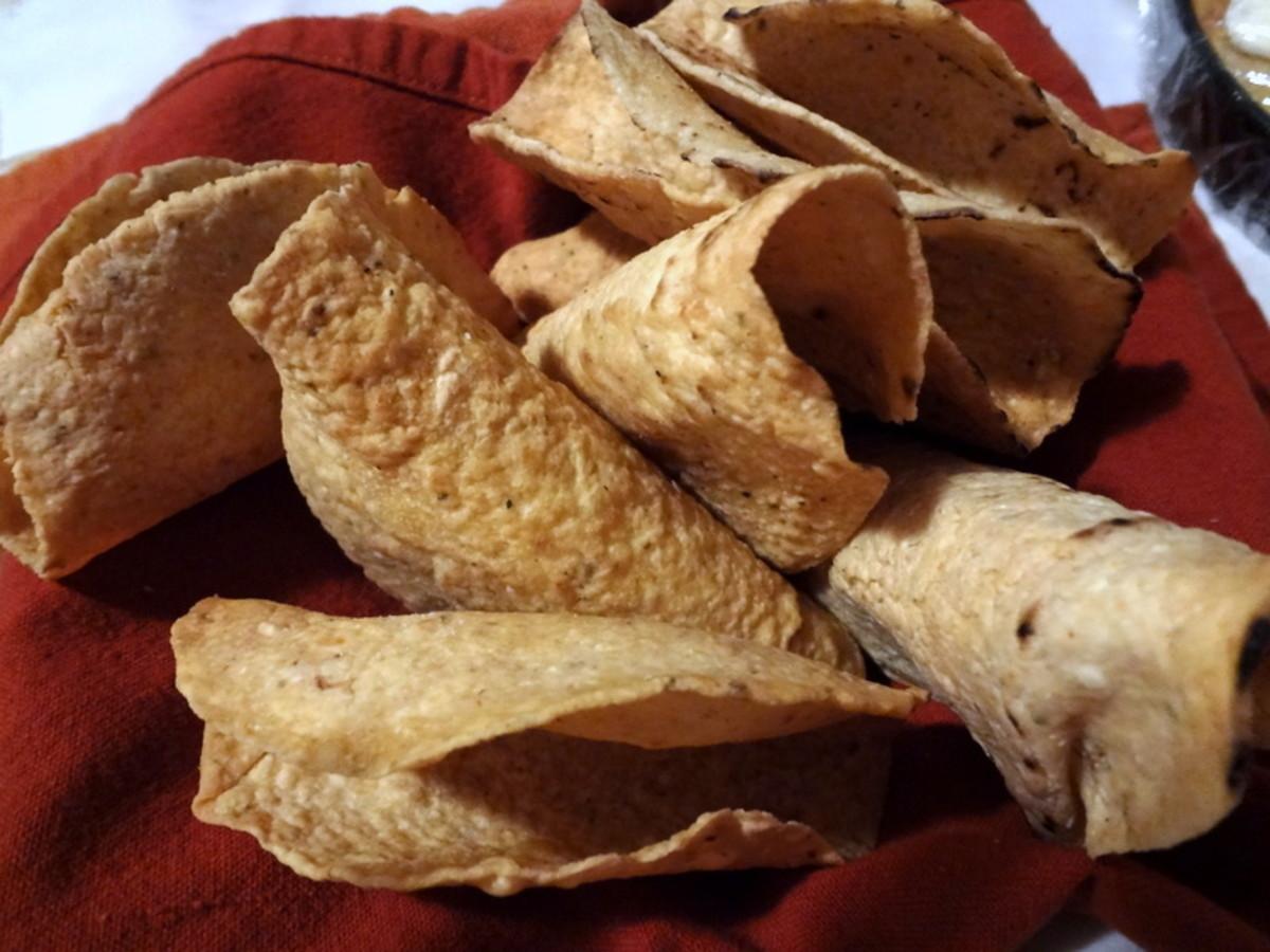 Crispy taco shells.