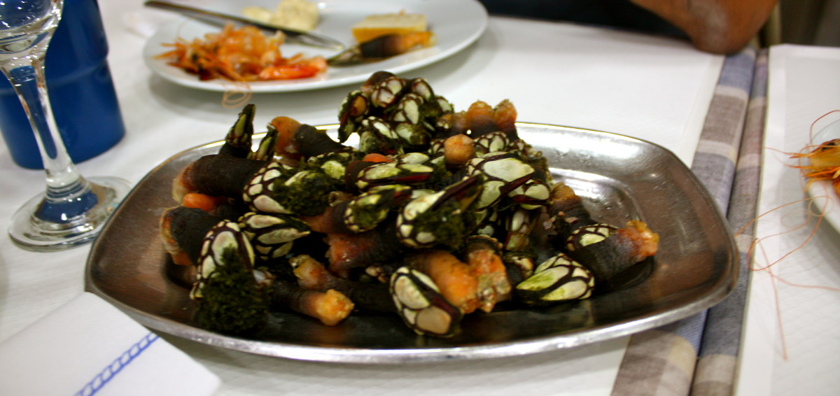 """They don't look very appetizing, but you have to try these things called """"percebes"""" (goose barnacles)."""