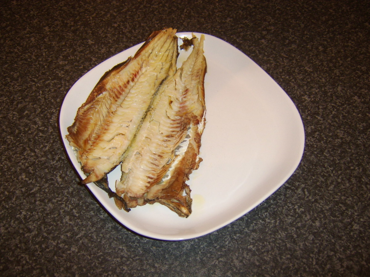 The Arbroath smokie is plated