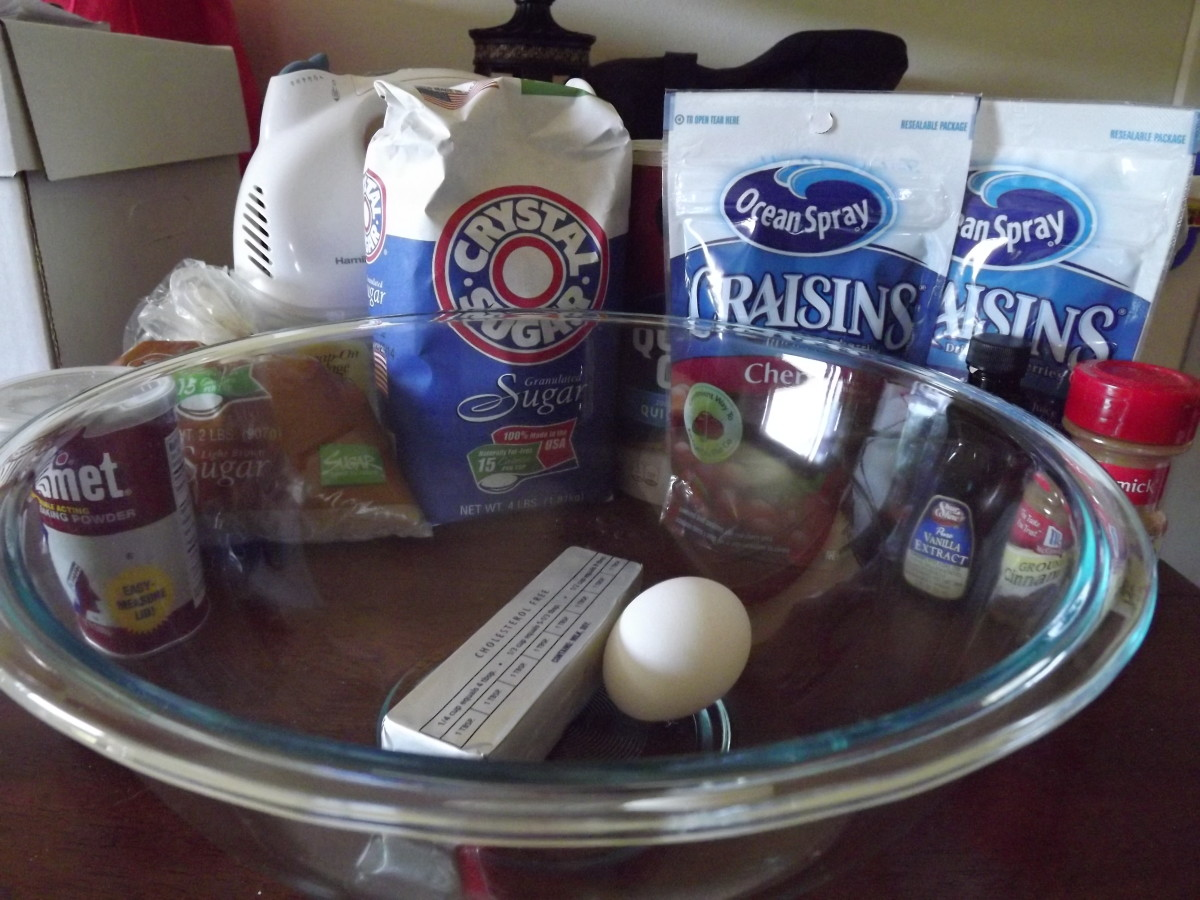Ingredients for spiced ranger cookies.