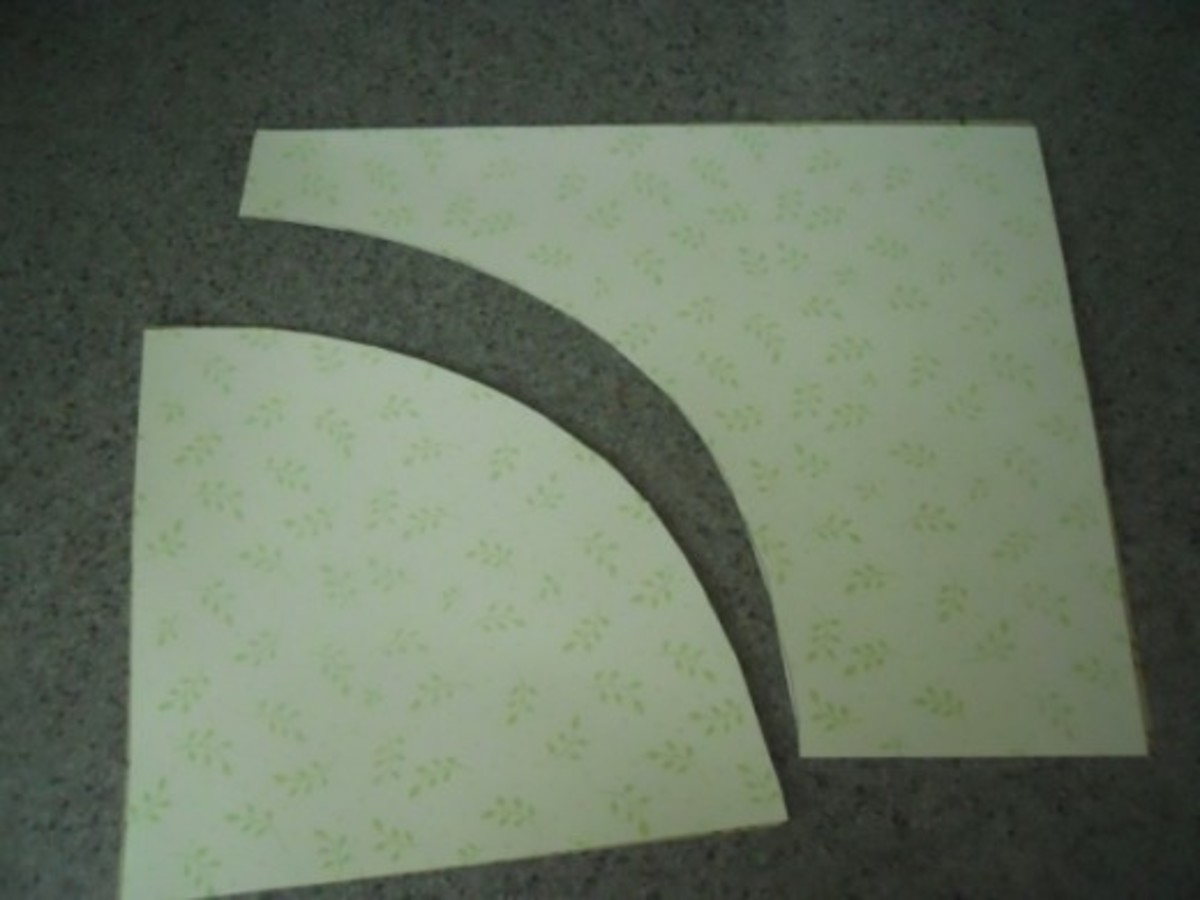 Cut along traced line.   Older children may do it themselves with child safe scissors.