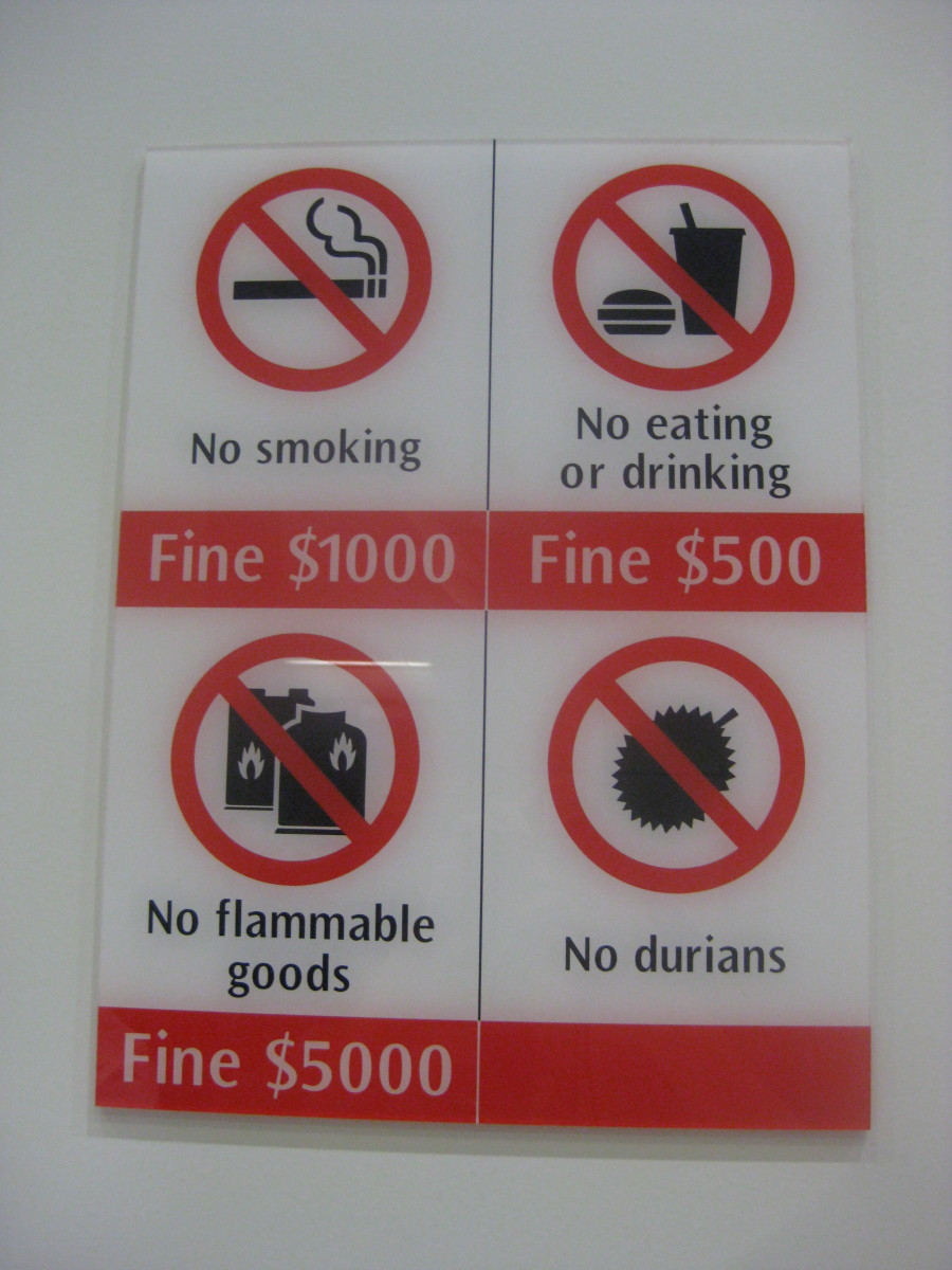 Durian is not permitted to be eaten in or around hotels or other places in Singapore, or in public areas in other Southeast Asian cities!