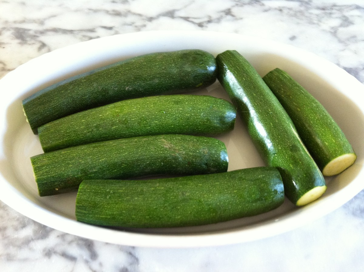 Try the zucchini out for size before cooking.
