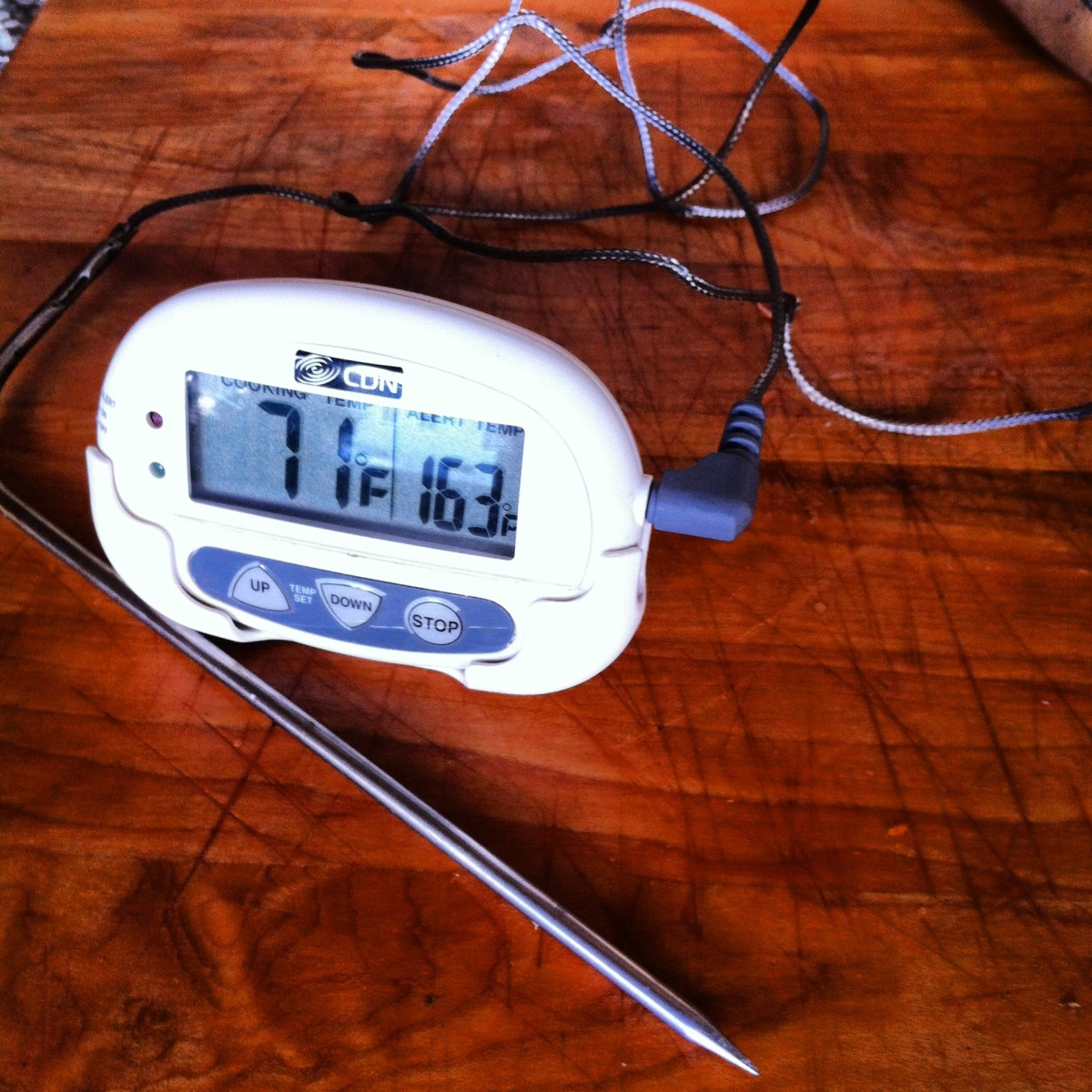 Using a probe-style thermometer removes the guesswork from doneness. You get it perfect every time.
