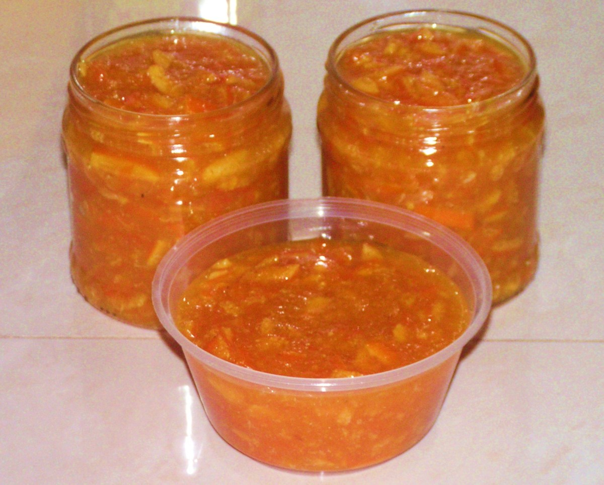Finished homemade orange marmalade