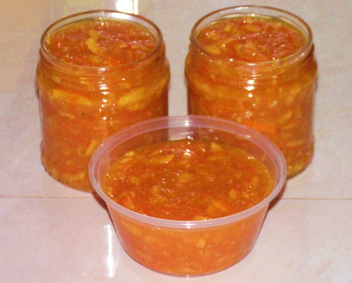 Finished homemade orange marmalade