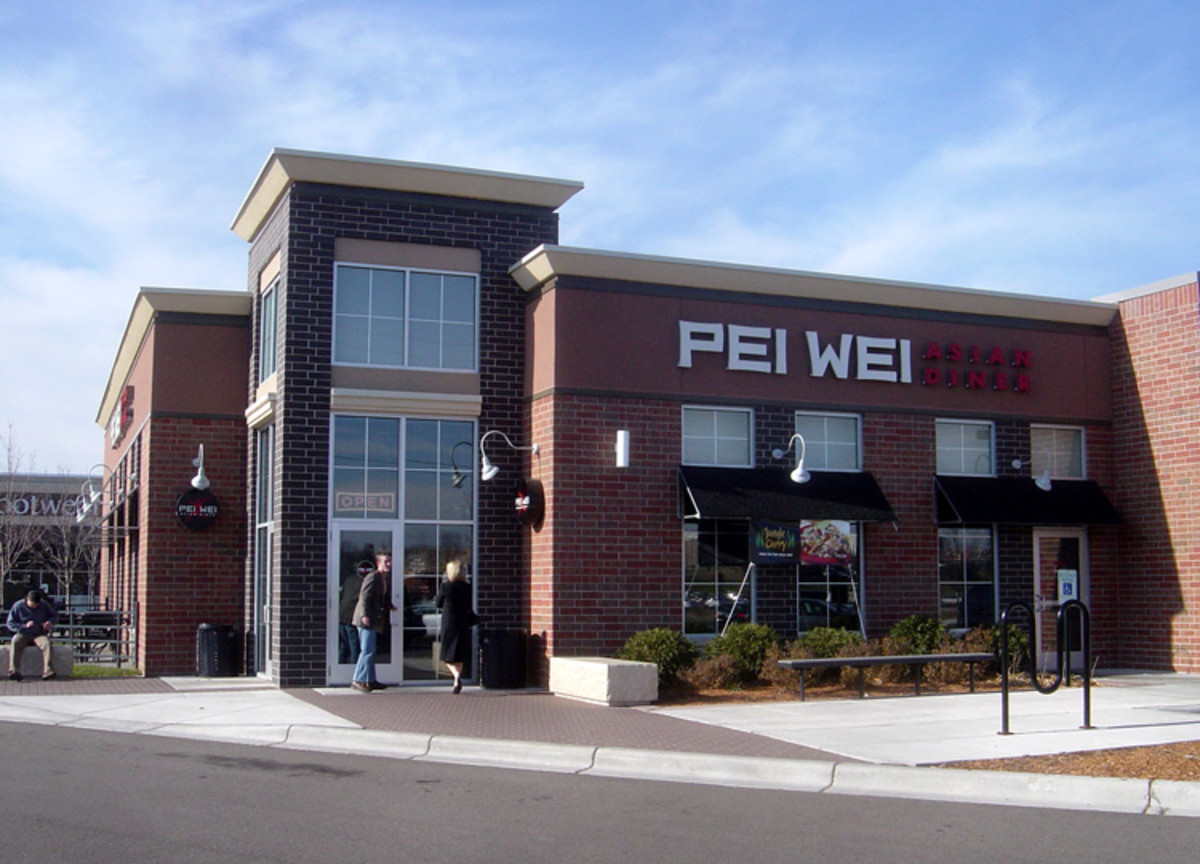 Pei Wei diner offers limited gluten free menu items