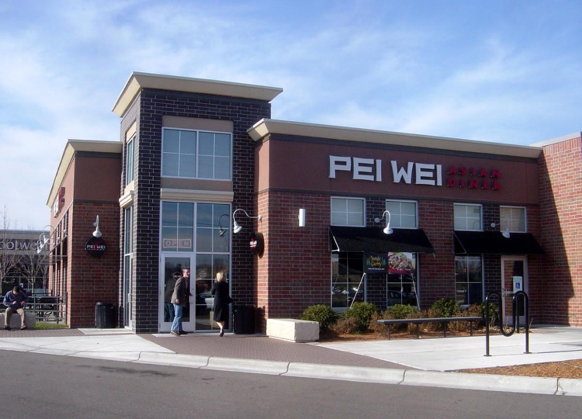 Pei Wei diner offers limited gluten free menu items