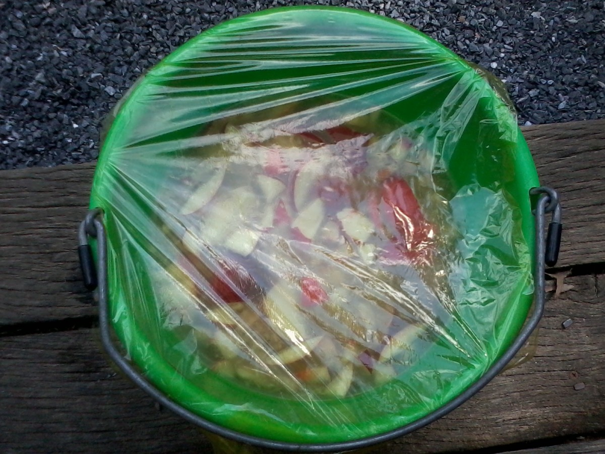 For primary fermentation (1 week in this recipe) some plastic wrap covering the bucket will work well.