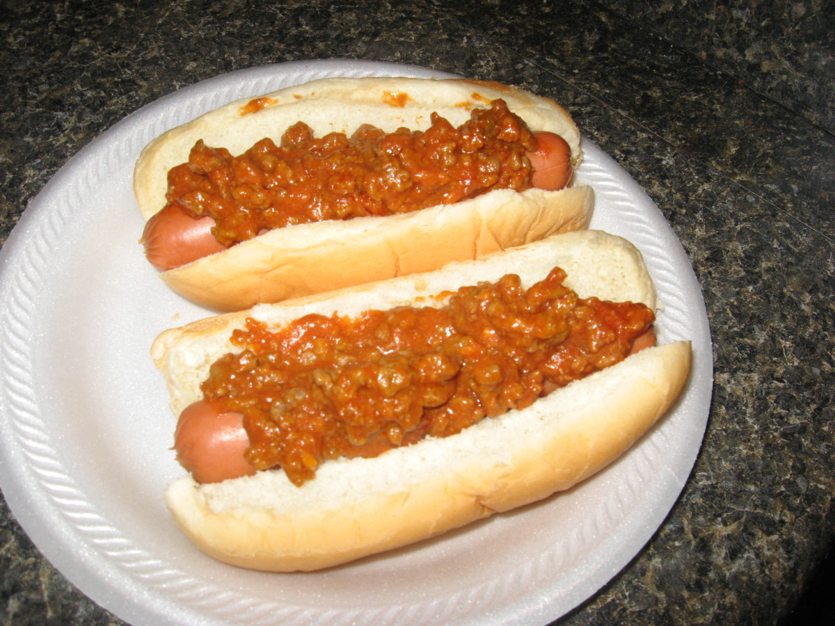 Mustard Hot Dog Chili