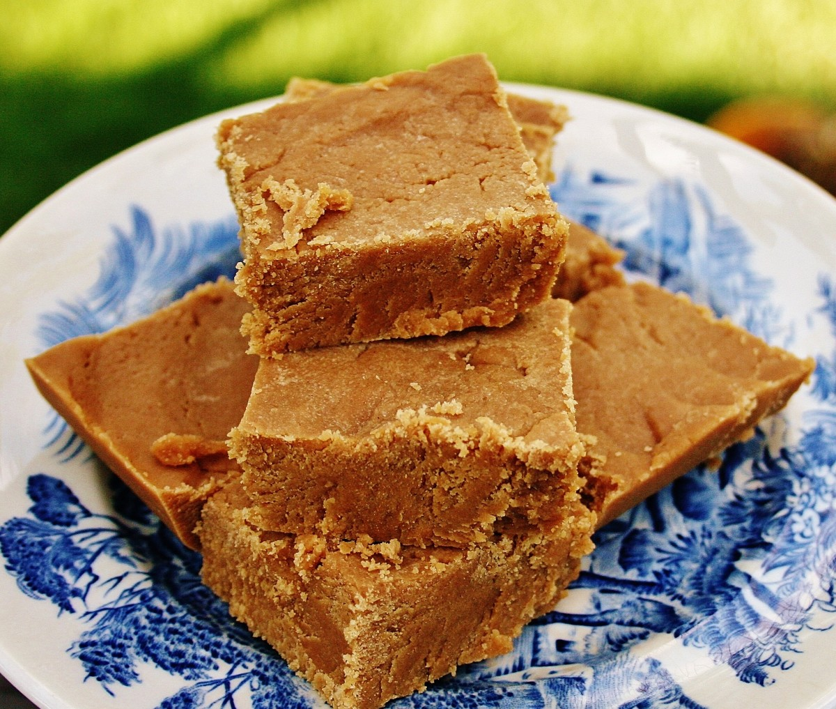 This fudge is just right--creamy, peanut buttery and not too, too sweet.