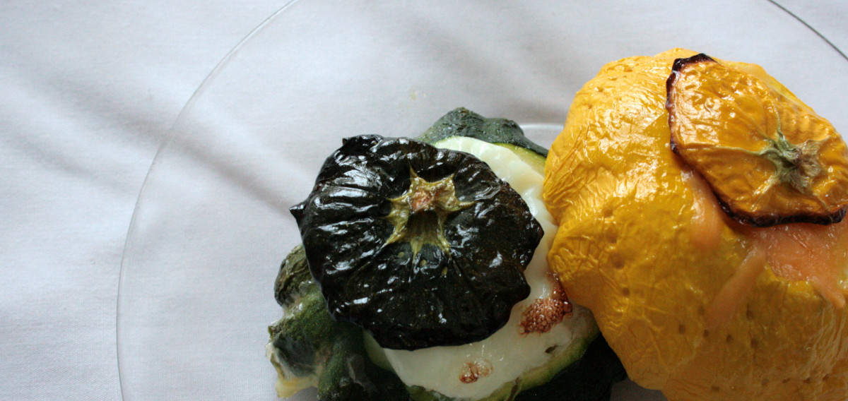 You can bake or roast pattypan—try it stuffed.