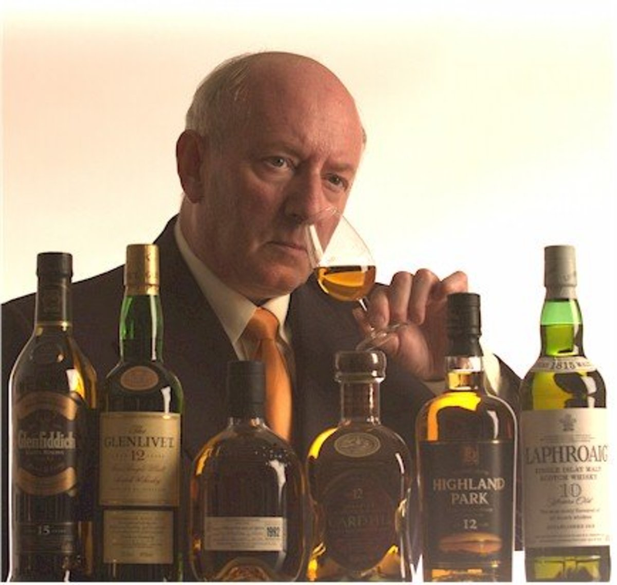 A man enjoying a single malt.