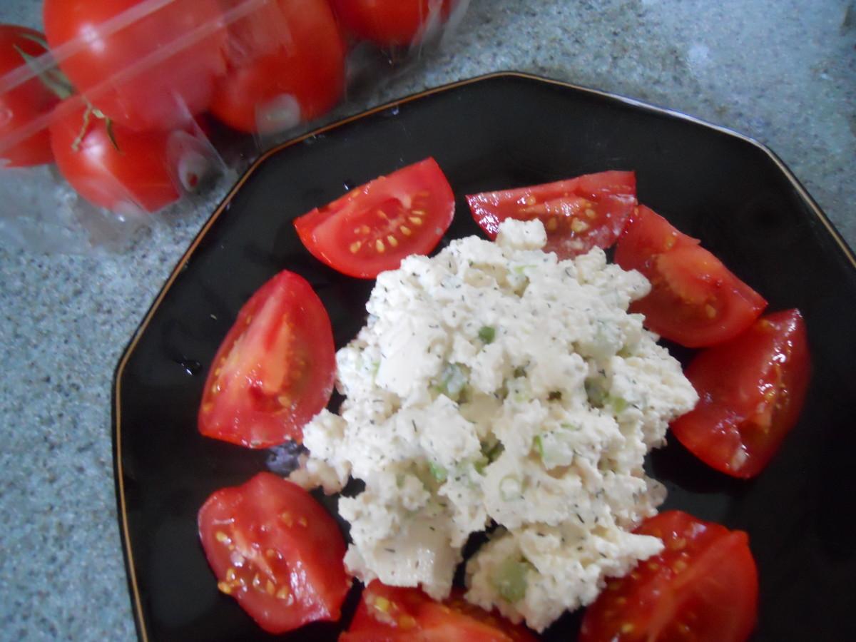 Tofu Salad With Campari Tomatoes