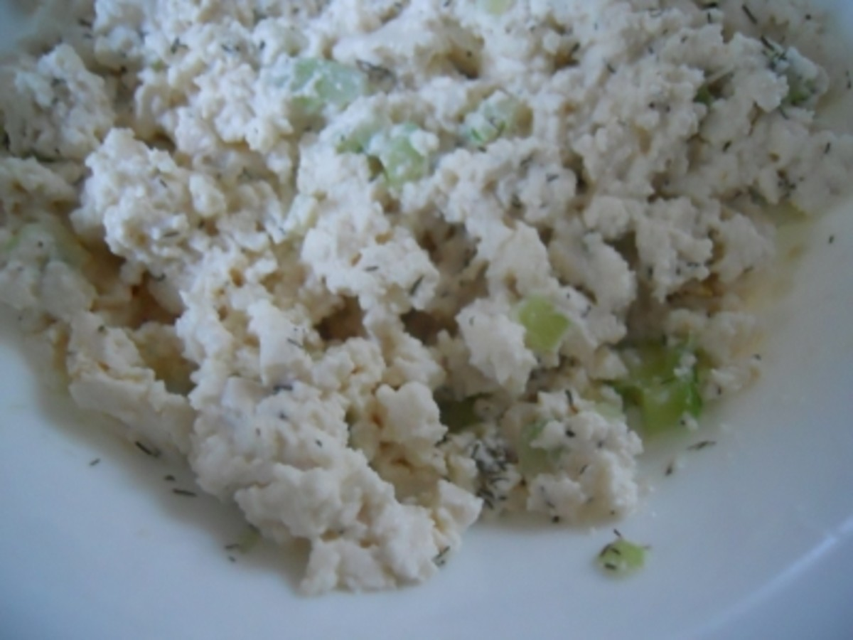 Mash all the ingredients until it is the consistency of cottage cheese