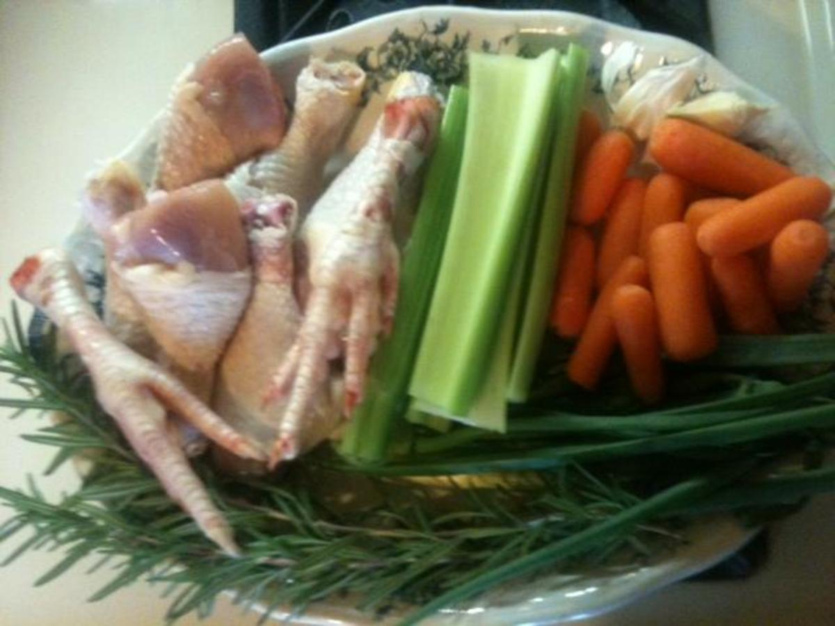 ingredients for homemade chicken stock