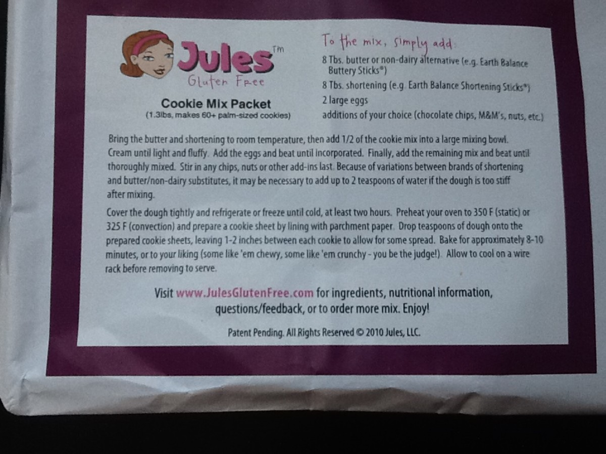 Jules Gluten-Free Cookie Packet.