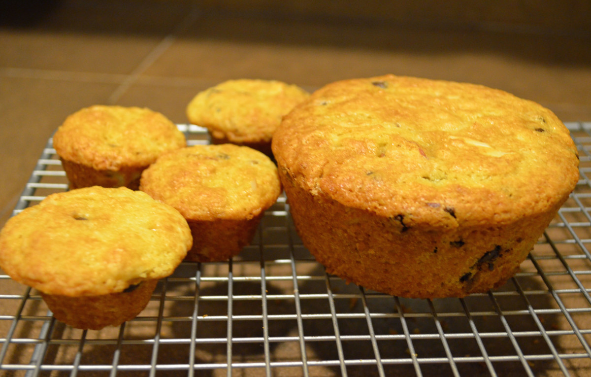 1 tablespoon of batter versus 1 cup of batter is all the difference there is between mini and extra large muffins.