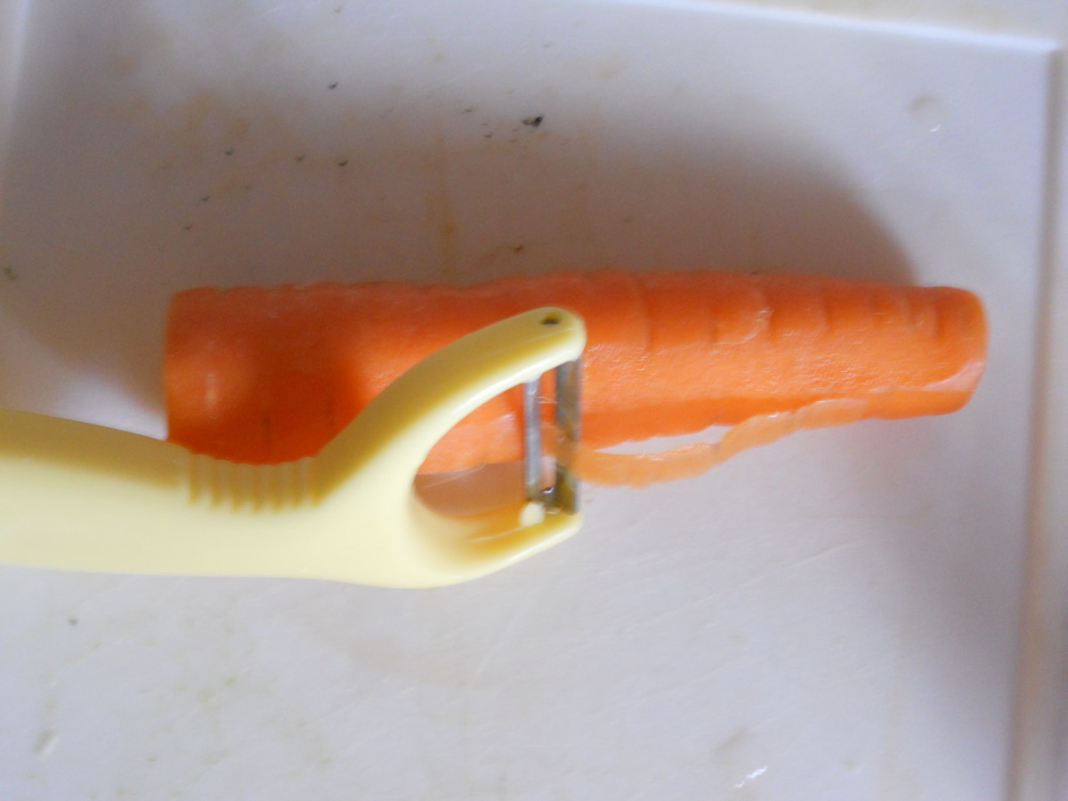 You probably will need to peel your carrots...