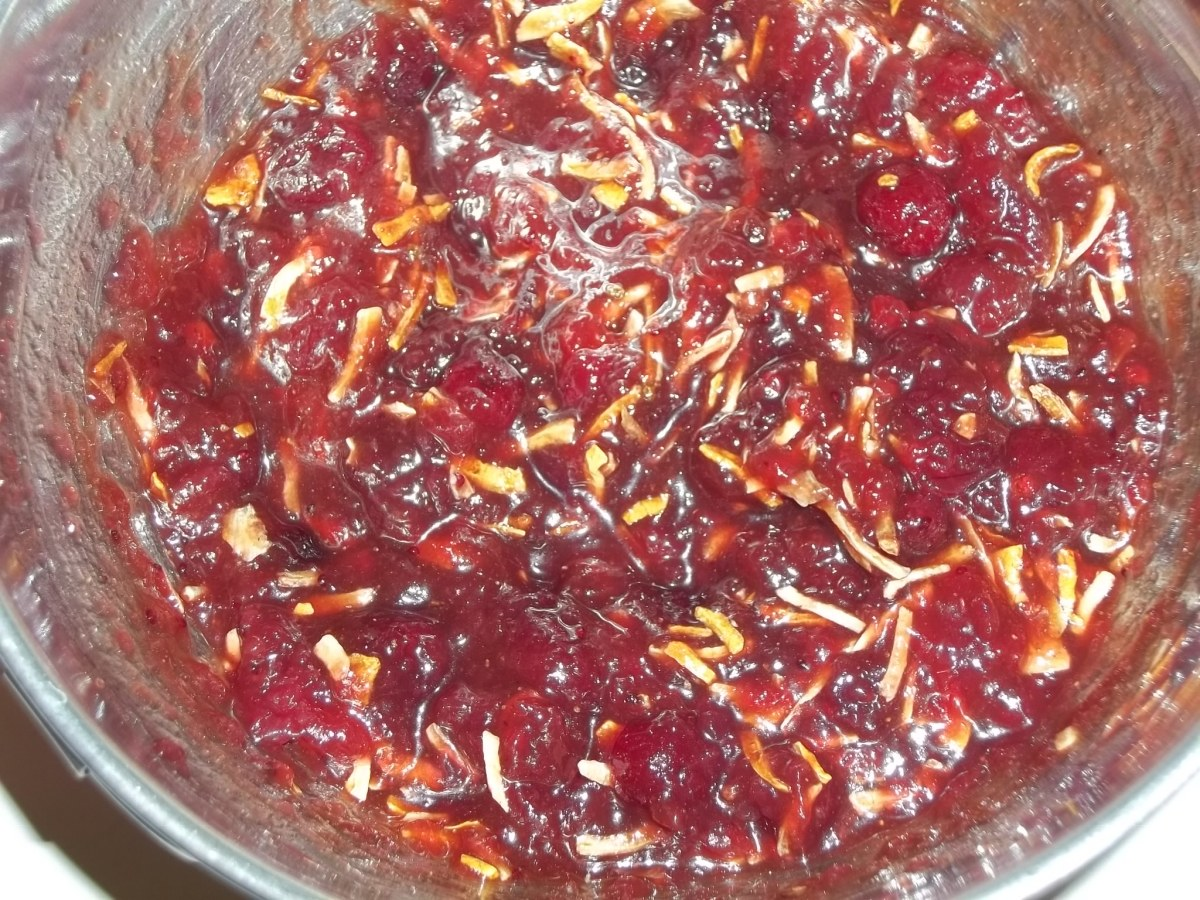 Sauce for cranberry chicken ready to go