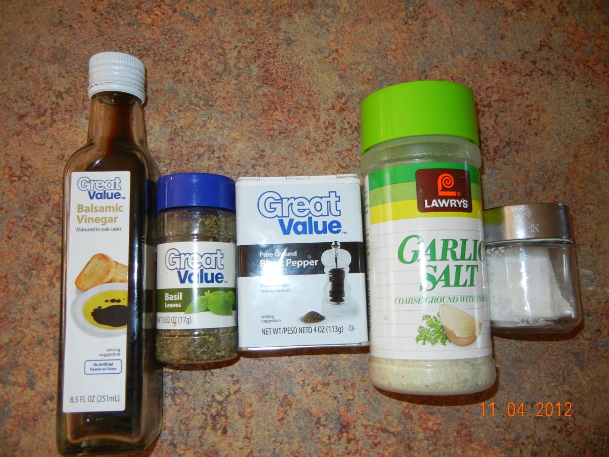"The ""secret"" ingredient my husband loves to use is balsamic vinegar. Then he just adds lots of garlic salt, pepper and seasonings."