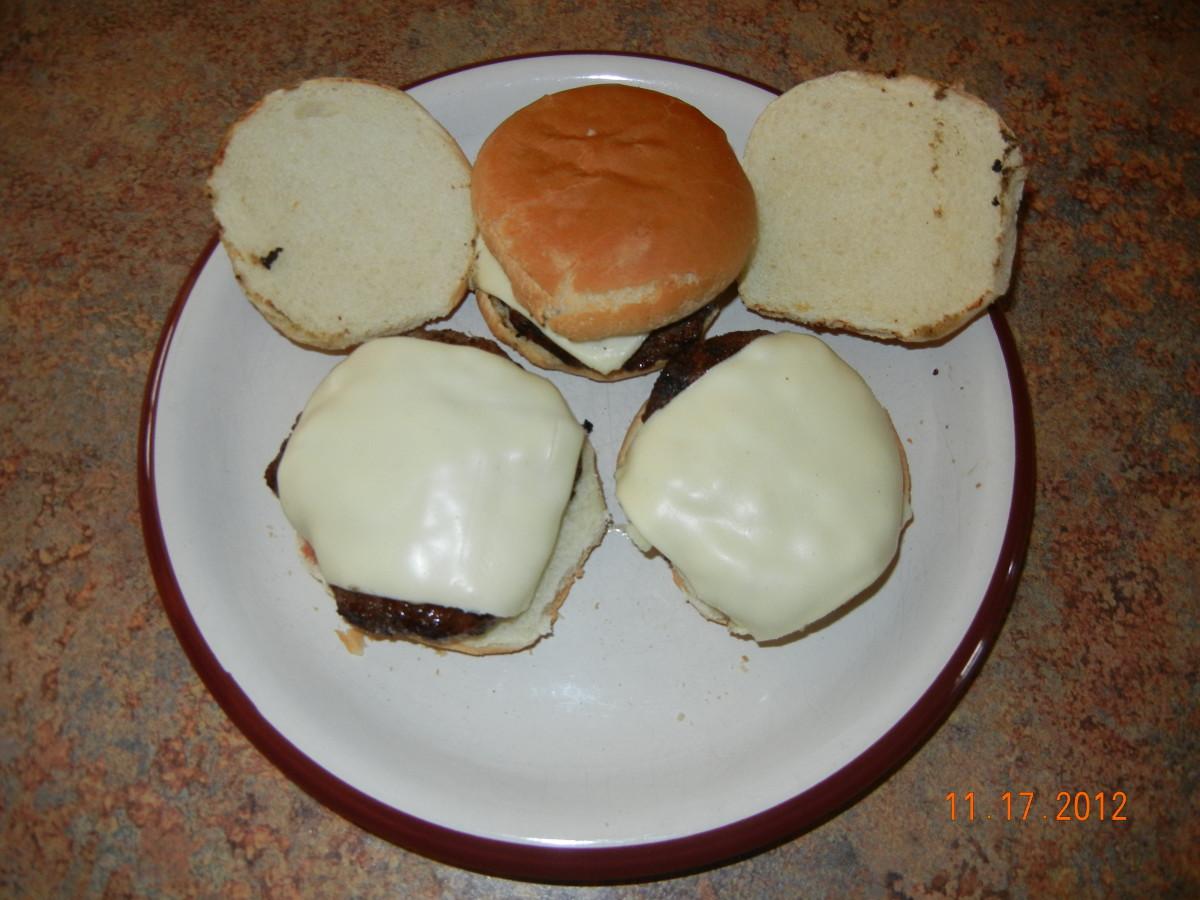 Venison cheeseburgers