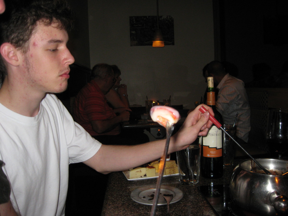 The Melting Pot provides a variety of food.