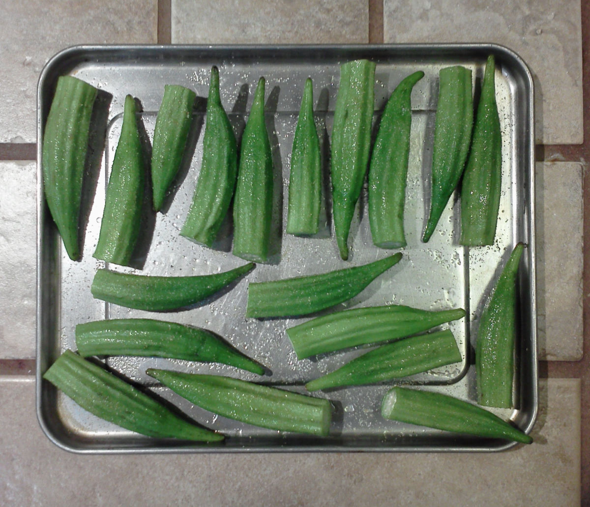 Okra Ready to Broil